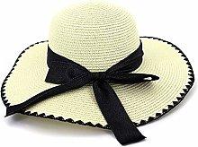 Sombrero de sombrilla Sombrero de Paja Bowknot