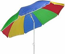 Sombrilla de 180 cm, para playa, balcón, arcoíris