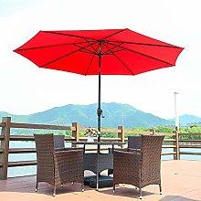 Sombrilla de 2,7 m, parasol para jardín, patio y