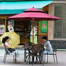 Sombrilla de 270 cm, para mercado, jardín,