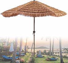 Sombrilla De Paja Hexagonal De 210 Cm (Color
