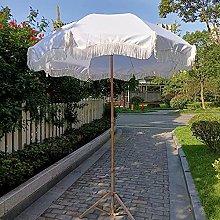 Sombrilla de patio de 6.5 pies con borlas