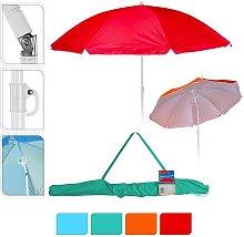 Sombrilla De Playa Ø160Cm Colores Surtidos Con