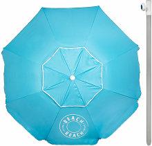 Sombrilla de playa octogonal diámetro 240 cm y