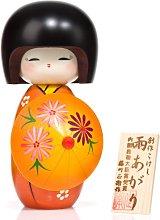 Sombrilla de sol niña con muñeca japonesa