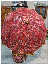 Sombrilla decorativa de jardín hecha a mano con