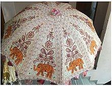 Sombrilla decorativa de playa de elefante antiguo