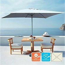 Sombrilla para jardín y terraza de aluminio