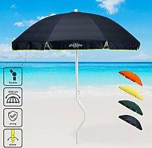 Sombrilla para playa y jardín 200 cm algodón