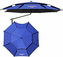 Sombrilla Paraguas de pesca Azul Rotación de 360