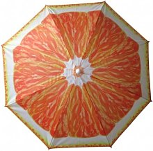 Sombrilla Playa 180cm Oxford Naranja Nt118889 -