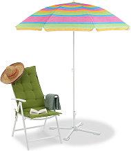 Sombrilla Playa Jardín y Terraza A Rayas con