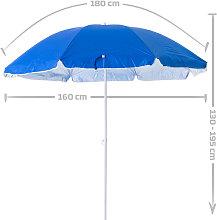 Sombrilla playa parasol azul acero de Ø 160 cm
