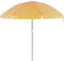 Sombrilla playa parasol naranja de aluminio de Ø
