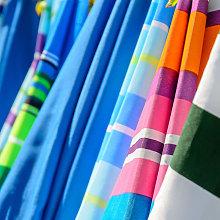 Sombrilla playa parasol rosa de acero de Ø 180 cm