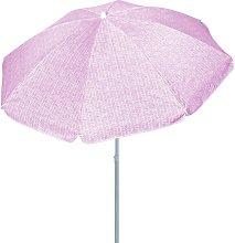 Sombrilla playa parasol rosa de aluminio de Ø 220