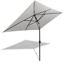 Sombrilla rectangular blanco arena 200x300 cm