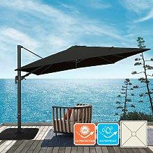 Sombrilla regulable de aluminio para jardín y