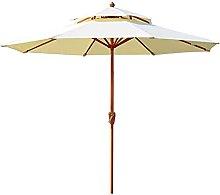 Sombrilla Terraza Parasol Jardin 2,7 M 2 Niveles
