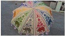 Sombrillas decorativas de jardín con bordado