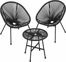 Songmics - Conjunto de muebles de jardín, Silla