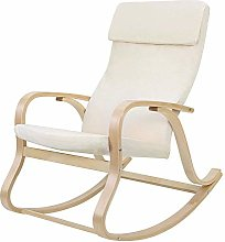 SONGMICS LYY30M-Sillón Mecedora, Color Beige,