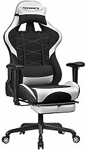 SONGMICS Silla Gaming con reposapiés, Silla de