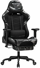 SONGMICS Silla Gaming con Reposapiés, Silla