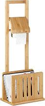 Soporte de papel higiénico con sitio para