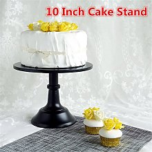 Soporte de pastel de hierro redondo negro de 10