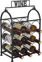 Soporte para Botella de Vino de Metal, Soporte
