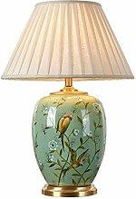 SPNEC Lámpara de mesa de cerámica de cobre