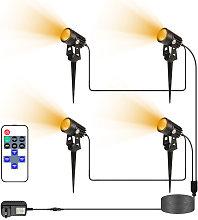 Spotlight 4PCS LED al aire libre con seguridad de