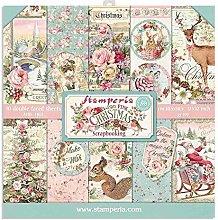 Stamperia Pink Christmas-Pad Cojín de Navidad
