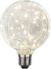 Star - Bombilla LED Micro LED E27 G95 1,5W Blanco