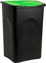 Stefanplast Cubo de basura de 50 L con tapa