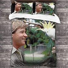 Steve Irwin - Juego de funda de edredón de 3