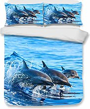 Sticker superb Encantador Animal Nadando Saltando