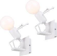 Stoex - 2pcs Lámpara de Pared Con Forma de
