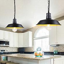 Stoex - Lámpara Colgante de Hierro Metal Tapa de