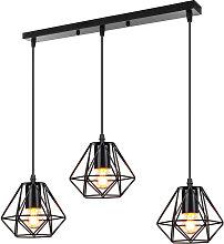 Stoex - Lámpara Colgante de Metal Industrial