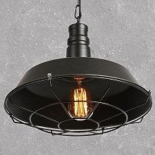 Stoex - Lámpara Colgante Malla de Hierro Tapa de