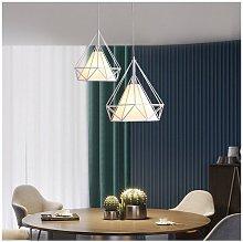 Stoex - Lámpara Colgante Retro Blanco Luz