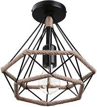 Stoex - Lámpara Colgante Retro Diamante 25cm
