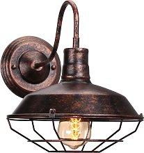 Stoex - Lámpara de Pared Malla de Hierro Tapa de