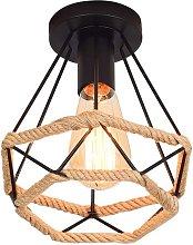Stoex - Lámpara de Techo de Cuerda de Cáñamo