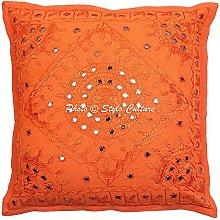 Stylo Culture Almohadas de Tiro étnicas Naranja