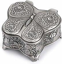 Sumnacon Caja de joyería vintage con forma de