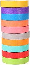 SUPVOX 20 piezas de cinta adhesiva de colores,