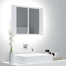 Susany Armario Espejo de Baño con Luz LED Moderno